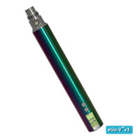 Cheap eGo V V3 battery variable voltage battery 1300mah iridescent stem with LCD screen