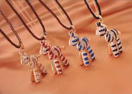 Мода childwhood деревянного коня свитер цепи фантазийными бриллиантовое колье для девушки #K0395