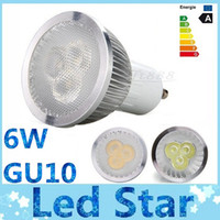 Wholesale 6W Led GU10 lights Angle Dimmable E27 E26 E14 MR16 Led bulbs lights lumens warm pure cool white led spotlights V V V