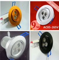 Wholesale By Fedex newest Led downlight W x3W Dimmable Downlights Beam Angle Cool Warm White Led Fixture ceiling light Recessed Lamp V