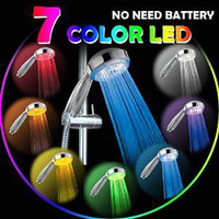 Wholesale NEW LED Changing Colour SHOWER HEAD Light Color Bathroom Eco Water Saving with tracking number