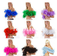 Wholesale 50pcs slot g M Thicken Marabou Feather Boa DIY Wedding Multiple Colors