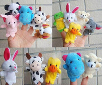 Retail Baby Plush Toy Finger Puppets Talking Props 10 animal...