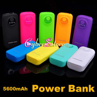 Wholesale 5600mAh Portable External Battery Power Bank Charger For iphone Mobile Phone Cellphone Samsung HTC