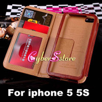Wholesale For iphone S Original MUSUBO Brand Top Quality Wallet PU Leather Case With inner Metal Frame Credit Card For iphone S G