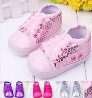 Wholesale 2014 New Sparkling Sequins Baby Girls Boys Fashion Shoes First Walker Shoes Bling Toddler Paillette Charming Shoes B2787