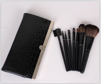 8 PCS Makeup Make UP Brush Purse Set Cosmetic Women Purse Ma...