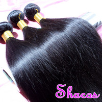 Wholesale Shacos Hair Light Yaki Straight pc With Mix Length Brazilian Virgin Hair Weave Human Hair Extensions Unprocessed