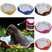 Wholesale Lovely Berber Fleece Pet Dog Nest Warm Puppy House With Soft Plush Pad Colors Choose ZFV