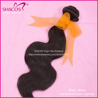 Wholesale Brazilian Virgin Hair Bundles Brazilian Body Wave Shacos hair extension unprocessed human hair A top quality