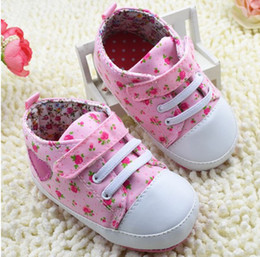 Wholesale Strawberry Fabric Wholesale - 20%off!infant canvas shoes strawberry baby shoes,pink soft bottom toddler shoes,newborn casual shoes,love walker shoes..3 pairs 6pcs.C