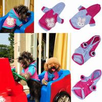 Wholesale Lovely Polar Fleece Pet Dog Clothes Warm Puppy Apparel With Lace Rabbit Colors Choose DMC