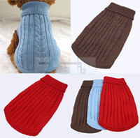 Wholesale Winter Product Soft Cozy Dog Sweater color size Pet Coat Aran Knit Dog Warmer Clothes D4