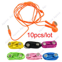 Wholesale 10pcs Candy Color Headphone Earphone Earbud Headset For iPhone G S iPad iPod
