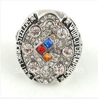 Wholesale Fashion Rhodium Plated Pittsburgh Steele Championship Ring Piece Accept Custom Design