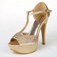 Cheap Cheap Wedding Shoes Elegant High Heels Temperament Bright Drill 13 CM 3 Colors Bridal Gowns WS025