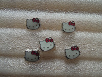 Wholesale Charms For Locket Cute Cat With Red Bowknot