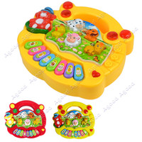 Wholesale New Popular Kid s Animal Farm Piano Music Toy Developmental Toys Baby Toy