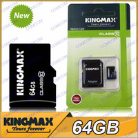 Wholesale KINGMAX GB Micro SD Memory Card GB Flash SDHC Cards With Adapter use for mobile phone