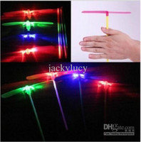 bamboo helicopter - Cheapest LED Flying Lights Toys Luminous Bamboo Dragonfly Flash Helicopter For Kids Gift New Childhood Classic Toy