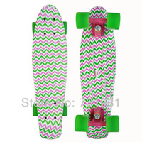 Wholesale New quot Printed penny skateboard Retro Cruiser old school mini longboard customized skate long board Complete Printed color