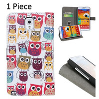 Cheap Newest Cartoon Owl Design Leather Case For Samsung Galaxy Note 3 III N9000 N9006 Wallet Leather Stand Cases