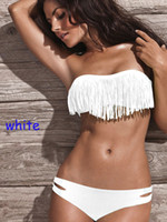 Wholesale 2015 New hot fashion women sexy tassel bikini swimwear swimsuit bathing suits candy colors for lady S M L