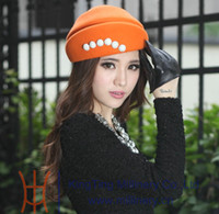 Wholesale Fashion winter hat women hats felt wool hat top hat wool fedoras felt wool hats natural wool made two colors available