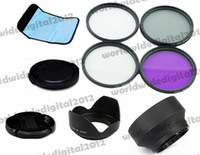 Cheap 67MM Complete Lens Filter kit for Canon EOS Rebel T5i T4i T3i 7D 6D 70D + Lens Hood (Screw Mount) Petal Crown Flower Shape F6