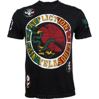 Wholesale man mma short sleeve t shirt Cain Velasquez Fight tops black venum fight tee
