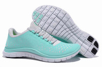 Wholesale EMS shiping AAA quality COLOR stock free v4 women running shoes women s athletic shoe ladies sports sneakers SKY blue gray