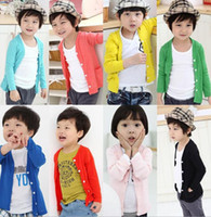 Wholesale Boys Outerwear cardigan Baby boy COATS baby girls boys jacket coat Children coats outerwear
