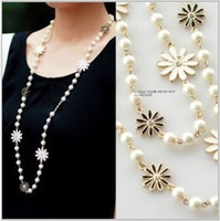 Cheap Beaded Necklaces Pearls sweater chain Best Middle Eastern Women's Long Beaded Necklace
