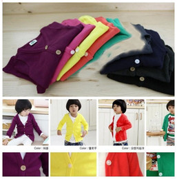 Wholesale Boy Outerwear cardigan Baby baby girls boys jacket coat Children coats outerwear sweaters