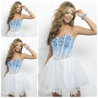 2014 TOP Glamorous Crystal Beaded Sweetheart Homecoming Dres...