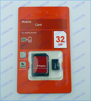 Wholesale 32GB Micro sd card Class tf memory card SDHC Cards with Adapter For smartphone and tablet PC mp4 player
