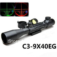 Wholesale telescopic sight C3 x40EG Red Green Dot Reflex Sight gun sight riflescopes night vision scopes WITH pica Tri Weaver Rail guns