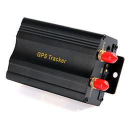 Sistema de alarma a distancia un coche en venta-TK103B vehículo GPS Tracker coche 103b con control remoto GSM alarma SD ranura de la tarjeta del sistema de alarma de coche GPS Monitor