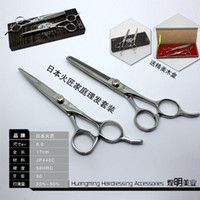 Wholesale Professional KASHO Japanese inch Hair Cutting Scissors Barber Hairdressing Salon Shears Thinning Set combination package
