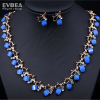 Wholesale resin jewellery austrian crystal necklace costume jewelry colorful resin jewelry sets bridal jewelry set for wedding