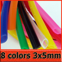 Wholesale Color Silicone Tube x5mm Food grade Aqueduct Thermostable Catheter Silicone Hose Ozone Resistant Tube
