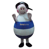 Mascot Costumes Unisex Costum Made Hot Sales Pirate Peppa Pig Mascot Costume The Pigs Mascot Costume Pig Mascot Free Shipping FT30356