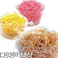 Wholesale Brand New DIY Craft material Shred paper Rayon Raffia present Filling Material Filler Raffia