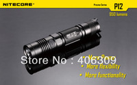 Cheap NiteCore P12 CREE XM-L2 (T6) LED 950-Lumens 3-Mode Tactical Led Flashlight lantern (1x18650 2xCR123 battery) Free Shipping