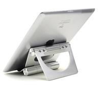 Wholesale Universal Folding Pivot Aluminum Metal Holder Stand Bracket for iPad MINI Air Galaxy Tab Folder Adjustable Rotary Retail Package Q2