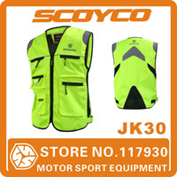 Wholesale 2014 Scoyco JK30 Motorcycle Reflecting Racing Vest Visbility Moto Safety Security Vests Motorbike Oxford Nylon