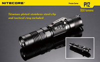 Cheap 1pc Nitecore P12 CREE XM-L2 LED 950 Lumens Flashlight Waterproof Rescue Search Torch by NL186 Battery