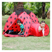 Wholesale Cocoa red floating worm child tent parent child game house frisbee outdoor tent