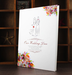 Wholesale European style wedding guestbook wedding wedding creative fingerprint attendance book Guest Books lt lt jukjg