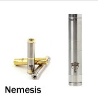 Electronic Cigarette Battery  Electronic Cigarette SS Mechincal Mod Nemesis Battery angel stainless steel material Laser carving Body kit with 18350 18650 18500 Battery